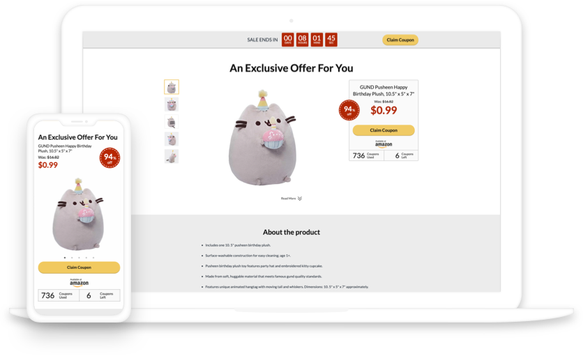 Coupon Template Pages from landingcube.com