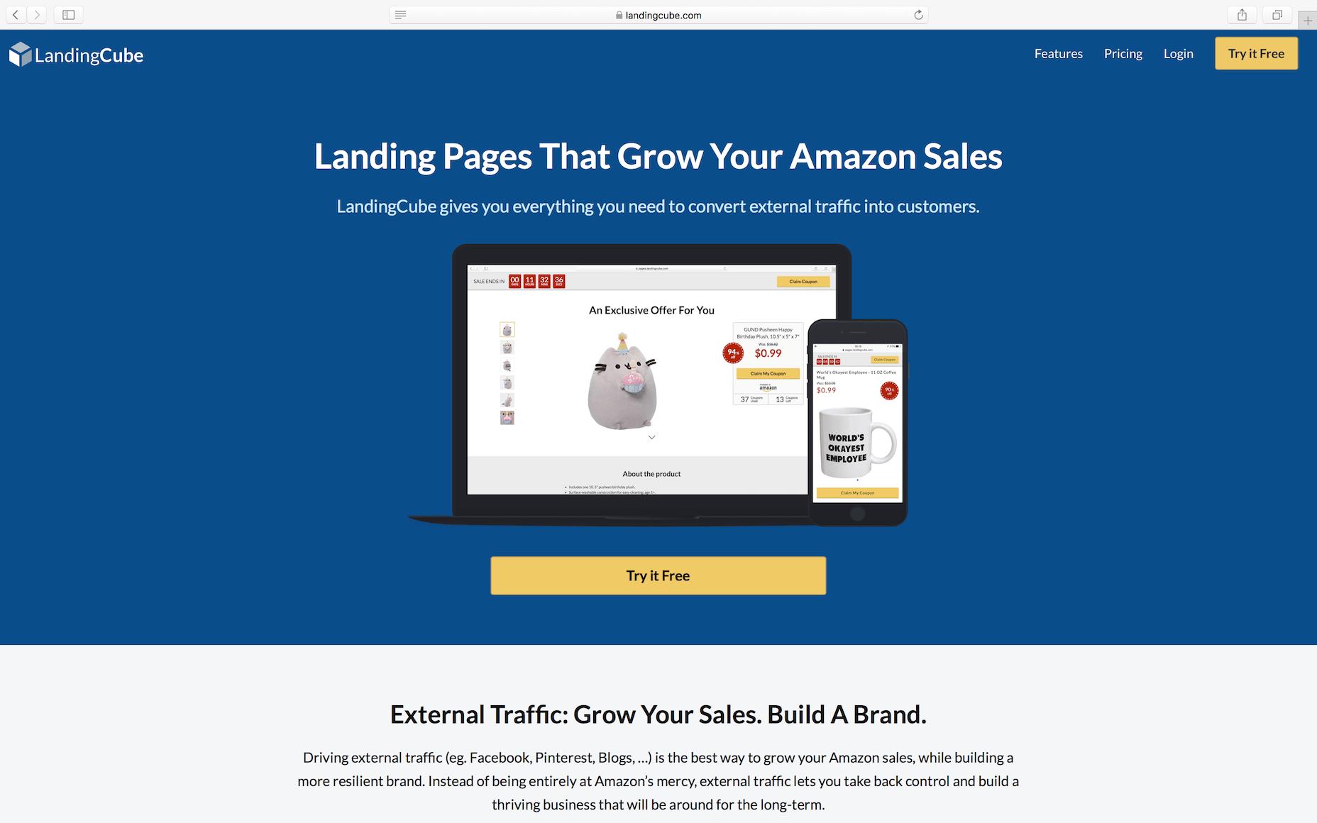 amazon landing page generator