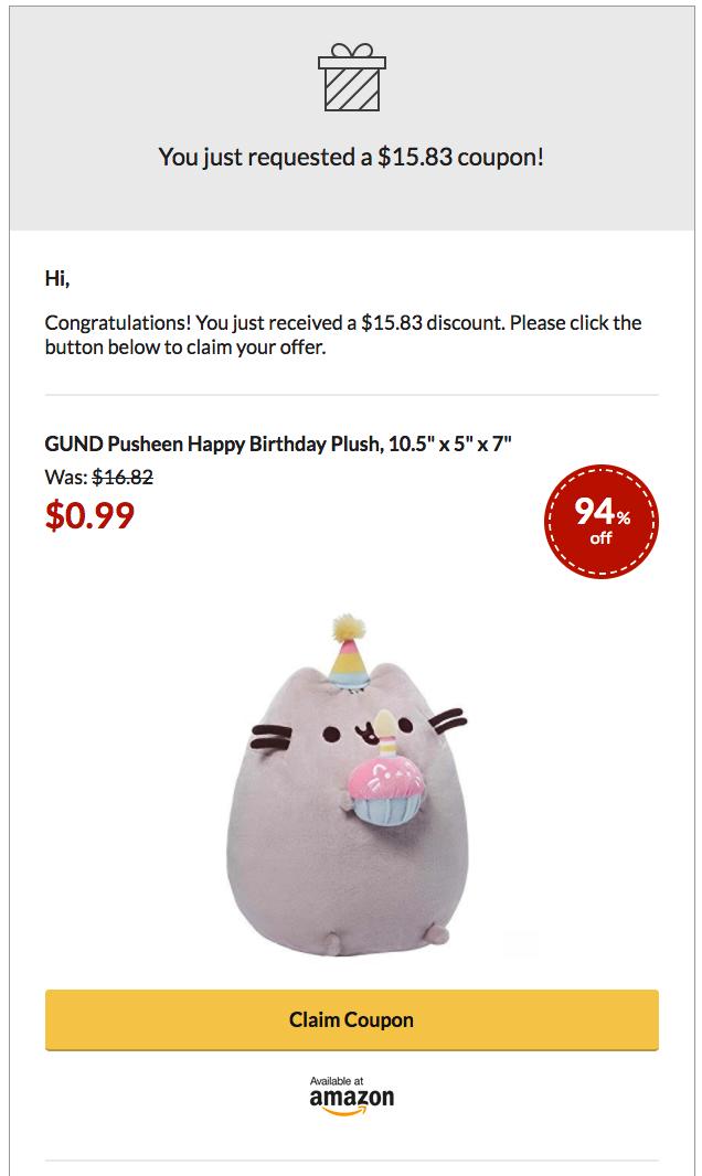 LandingCube coupon email