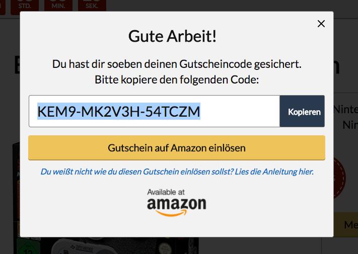 Amazon 10 gutschein code