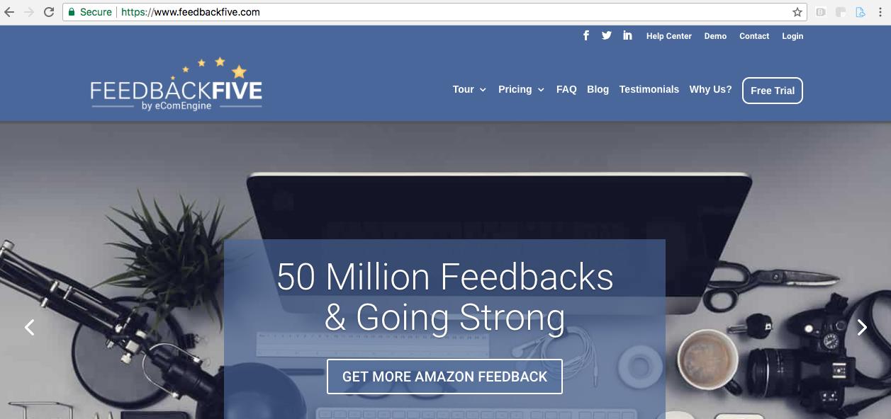 Amazon review tool FeedbackFive
