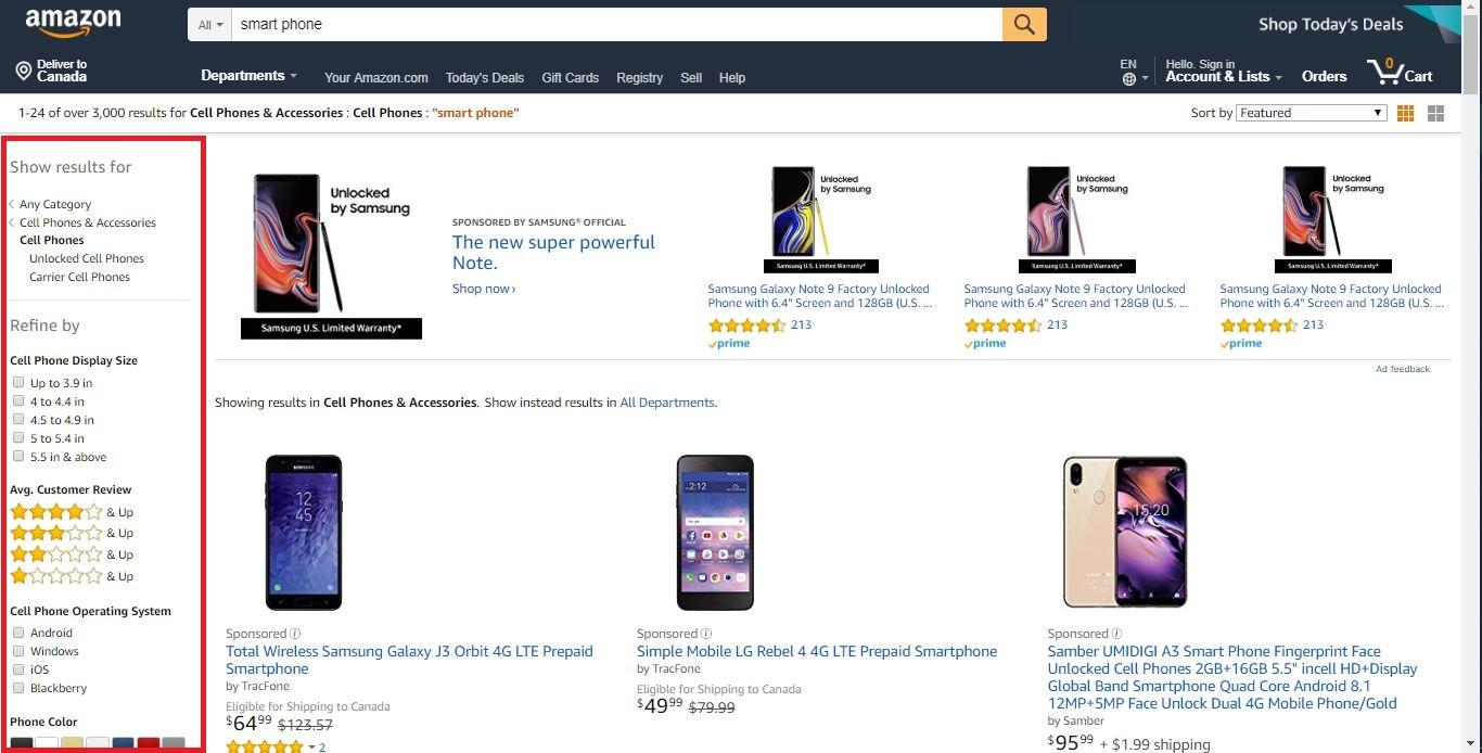 amazon advanced search