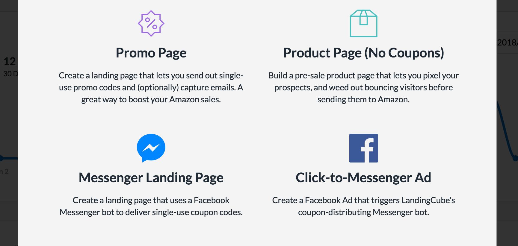 Landing Cube Facebook Messenger landing page