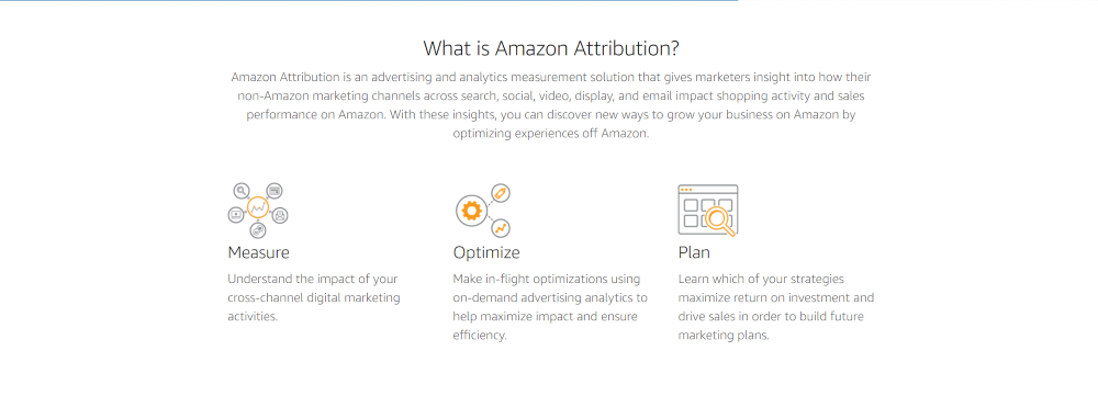 Amazon attribution summary