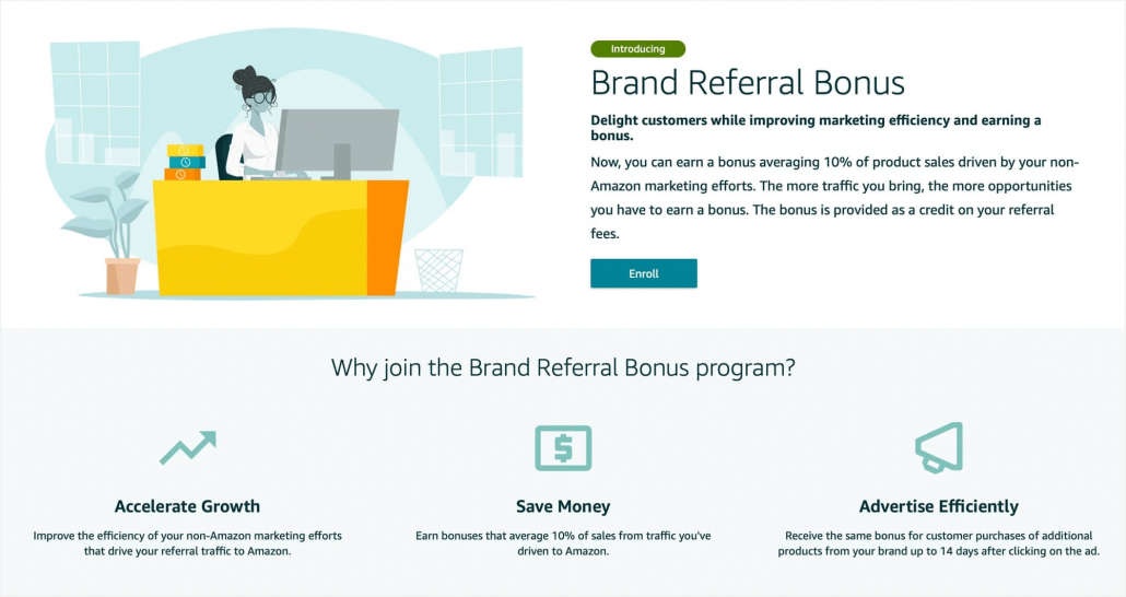 Amazon Brand Referral Bonus program
